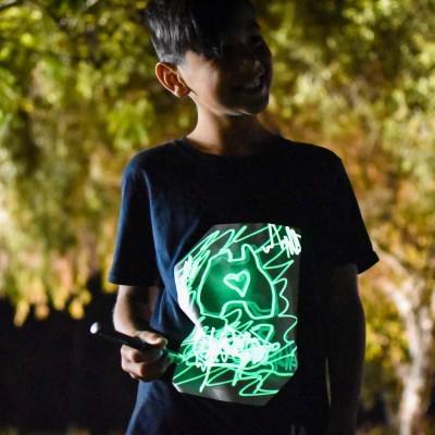 Illuminated Apparel Super Glow T-Shirt - Black