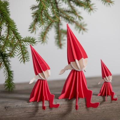 Lovi Birch Ply Girl Elf - Red