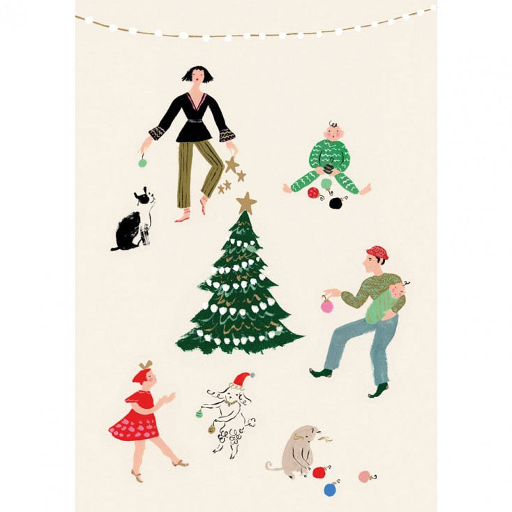 Little House Christmas Card - Pack of 5