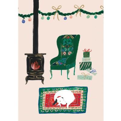 Festive Fireside Christmas Card - Pack of 5