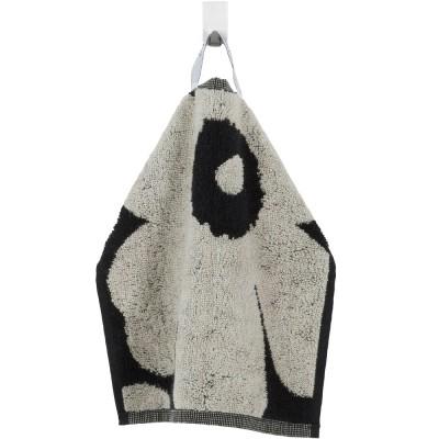 Marimekko Unikko Flannel - Black & Sand
