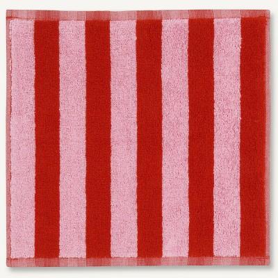 Marimekko Face Cloth - Kaksi Raitaa Pink