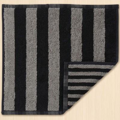 Marimekko Face Cloth - Kaksi Raitaa Dark Grey