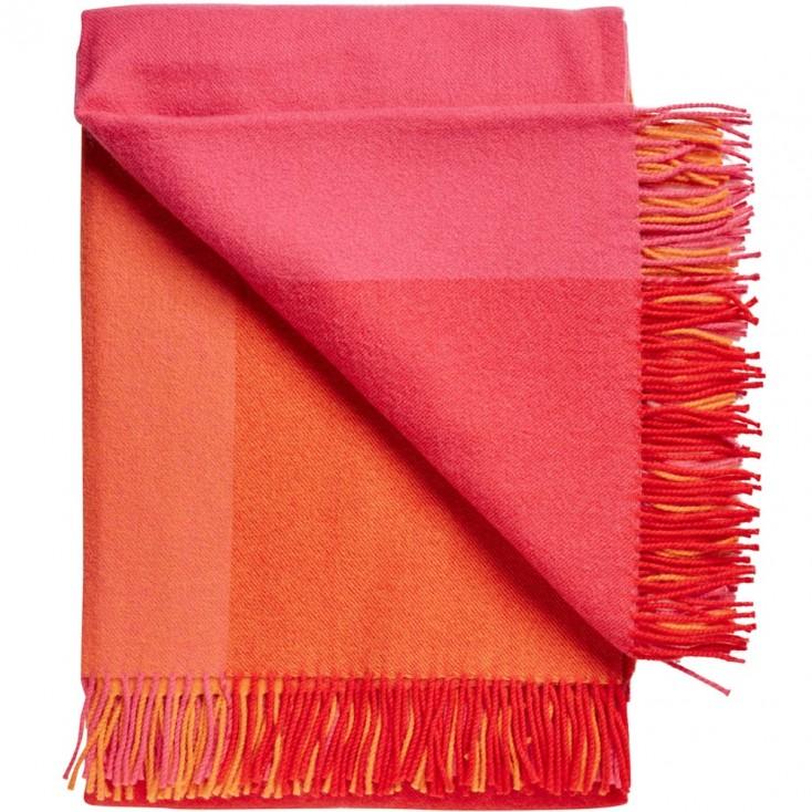 Miami Wool Throw - Red Blocks