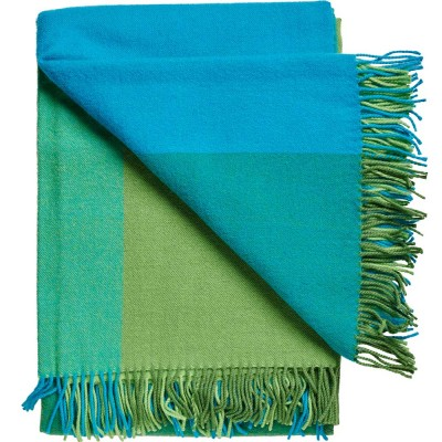 Miami Wool Throw - Green Blocks