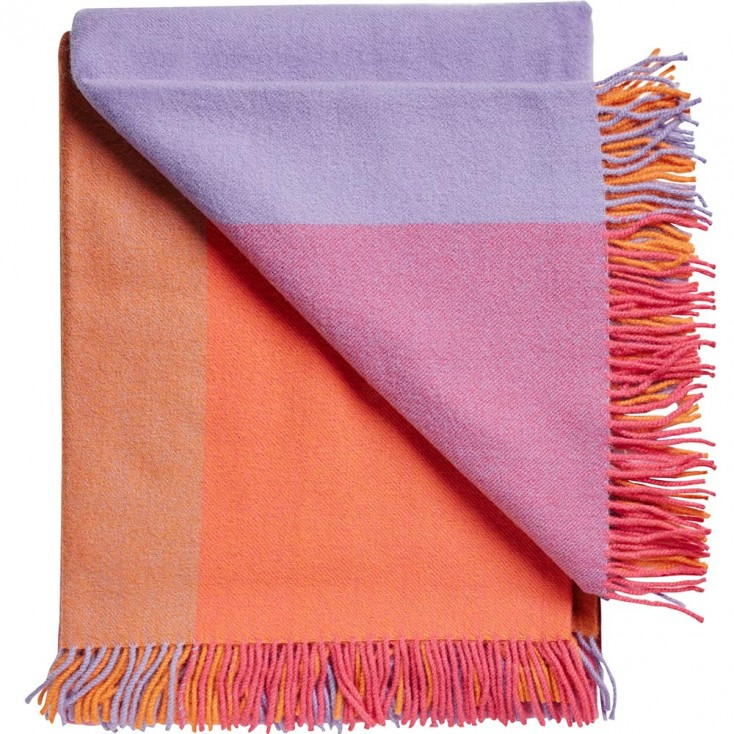 Miami Wool Throw - Pink Blocks