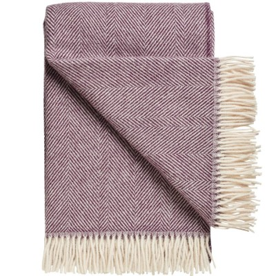 Rømø Herringbone Wool Throw - Heather
