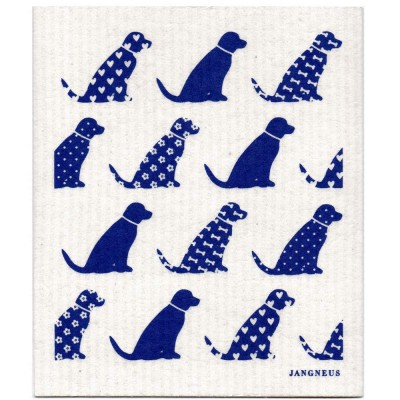 Jangneus Dishcloth - Blue Dogs