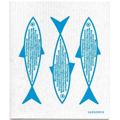 Jangneus Dishcloth - Blue Fish