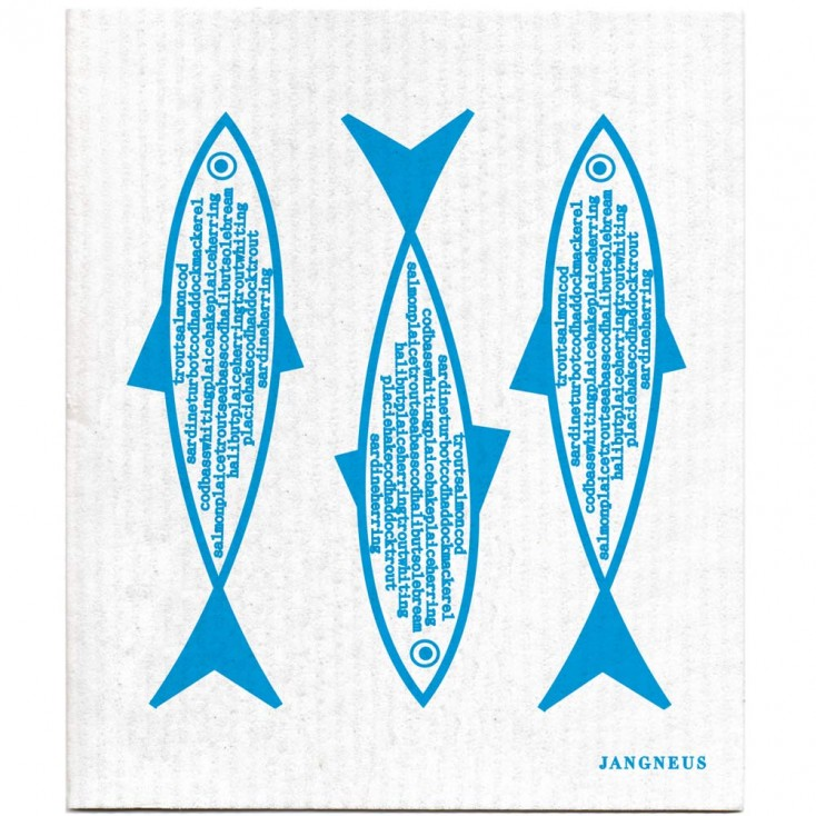 Jangneus Dishcloth - Blue Fish
