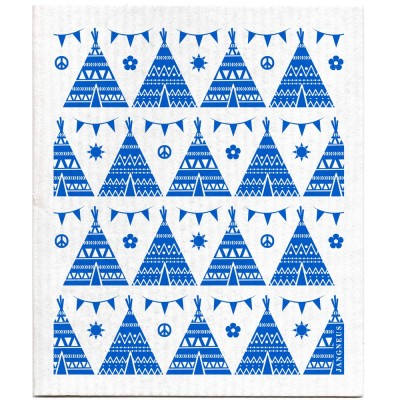 Jangneus Dishcloth - Blue Teepee