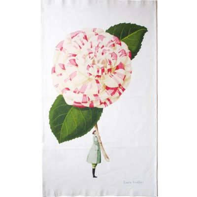 Laura Stoddart In Bloom Tea Towel - Camellia