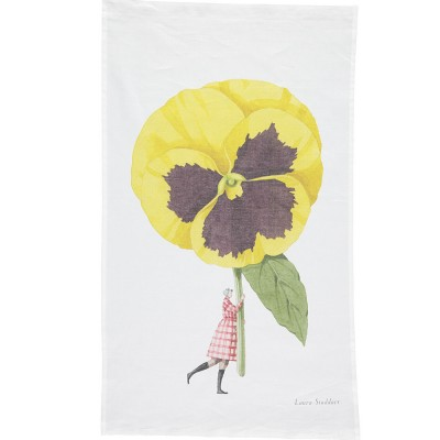 Laura Stoddart In Bloom Tea Towel - Pansy