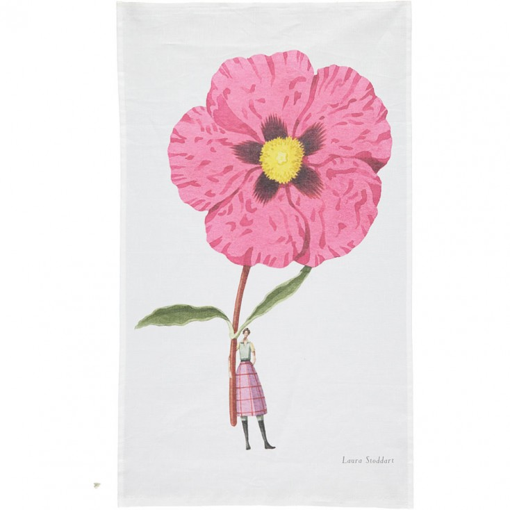 Laura Stoddart In Bloom Tea Towel - Cistus