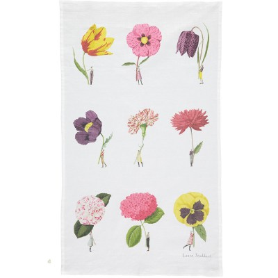 Laura Stoddart In Bloom Tea Towel - Multi-Flower