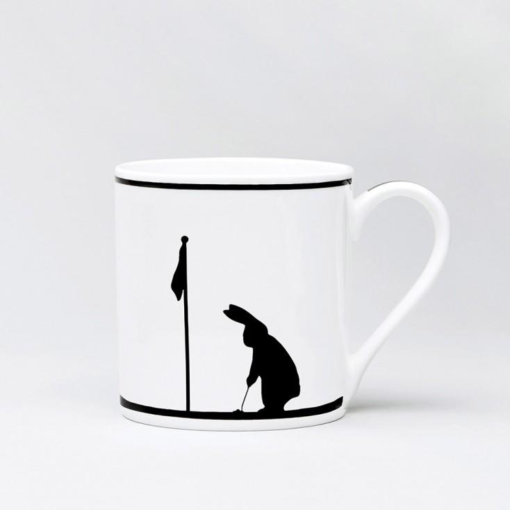 Ham Golfing Rabbit Mug