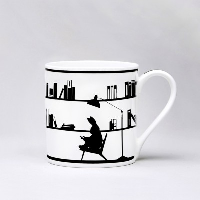 Ham Reading Rabbit Mug