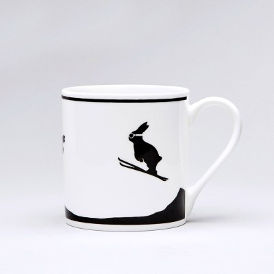 Ski Jumping Rabbit Mug By Ham