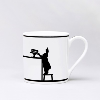 Ham Cake Loving Rabbit Mug