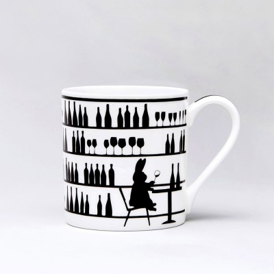Ham Wine Tasting Rabbit Mug