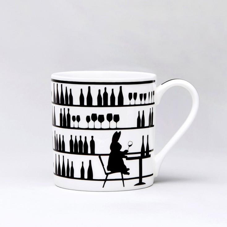 Ham Wine Tasting Rabbit Mug