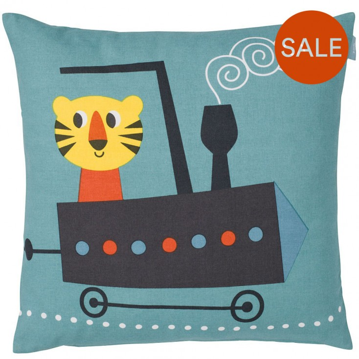 Spira Tiger Cushion - Blue