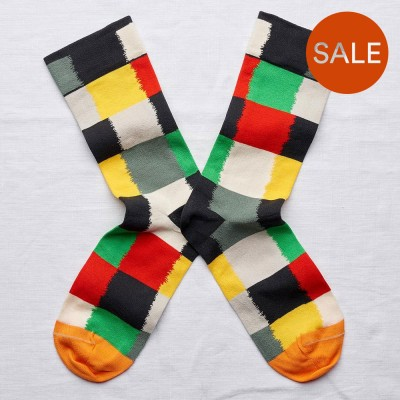 Bonne Maison Socks - Multicoloured Patchwork