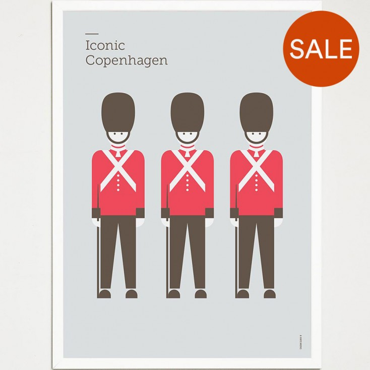 Iconic Copenhagen Poster - Guards