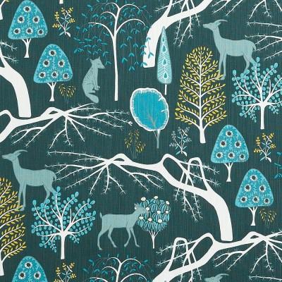 Fabric Remnant - Sagoskog Blue - 45 cm