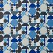 Remnant - Anita Blue Fabric - 75 cm