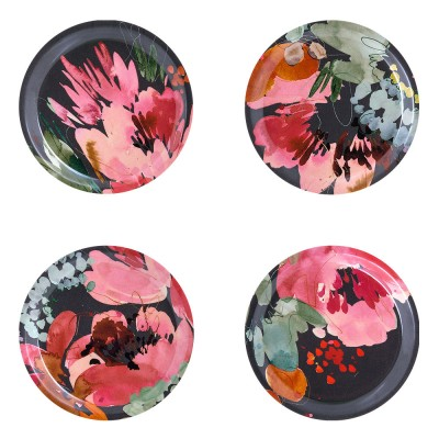 Åry Home Garden Bouquet Coasters - Set Of Four
