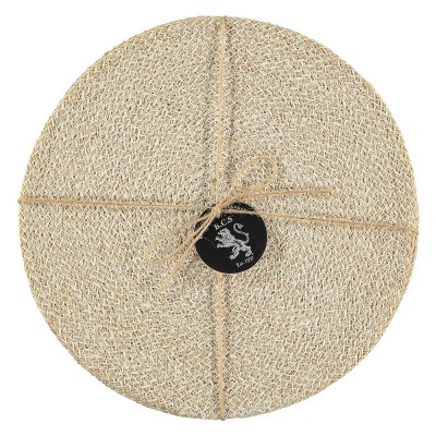 British Colour Standard Jute Placemats - Pearl White