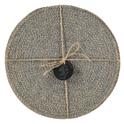 British Colour Standard Jute Placemats - Gull Grey