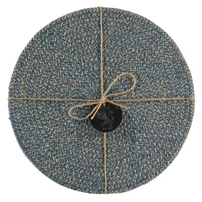 British Colour Standard Jute Placemats - Cornflower