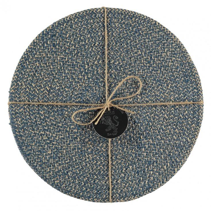 British Colour Standard Jute Placemats - Cornflower