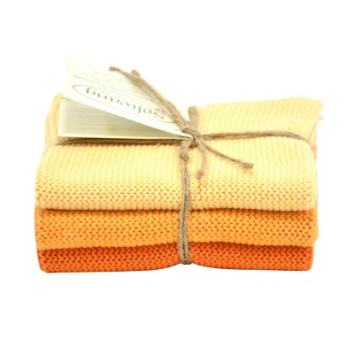Danish Cotton Dishcloth Trio - Burnt Orange