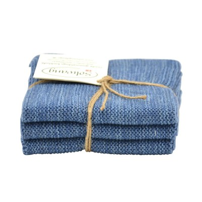 Danish Cotton Dishcloth Trio - Denim