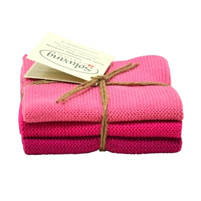Danish Cotton Dishcloth Trio - Pink