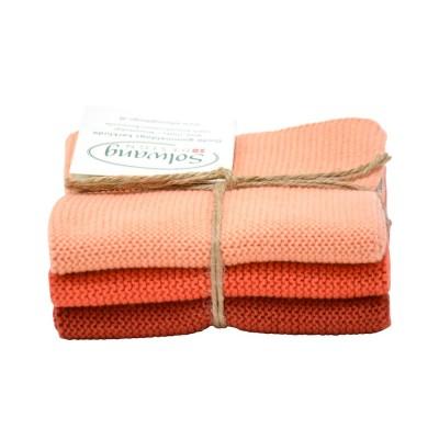 Danish Cotton Dishcloth Trio - Terracotta