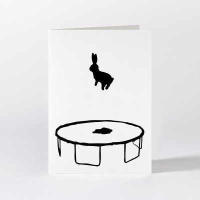 Ham Greeting Card - Bouncing Rabbit
