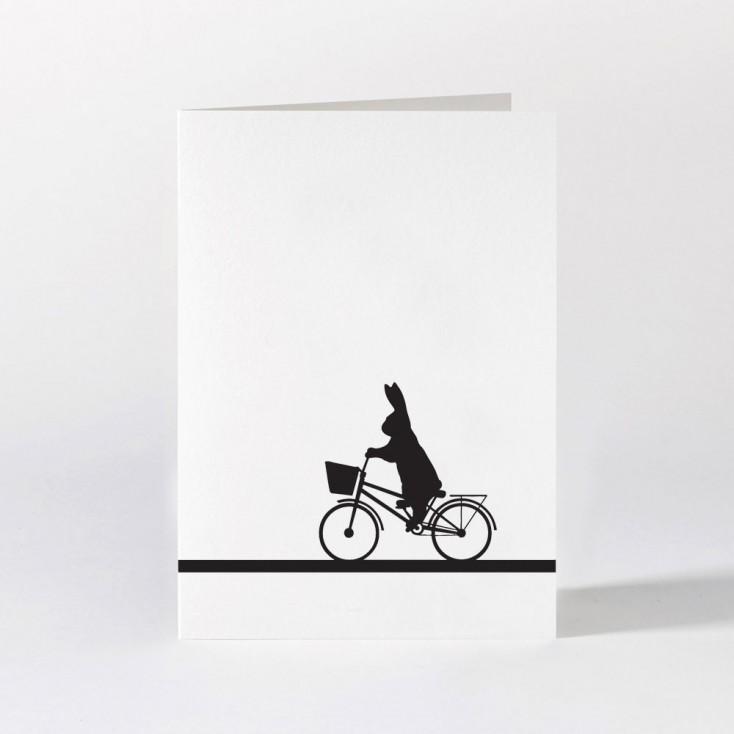 Ham Greeting Card - City Bike Rabbit