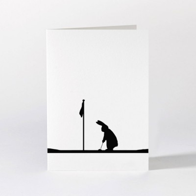 Ham Greeting Card - Golfing Rabbit