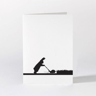 Ham Greeting Card - Gardening Rabbit