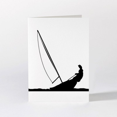 Ham Greeting Card - Sailing Rabbit