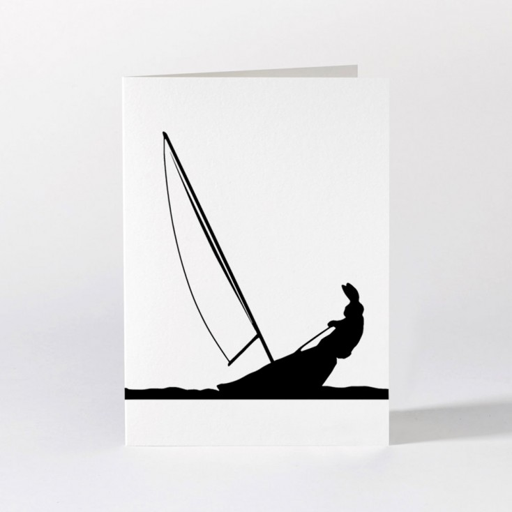 Ham Greeting Card - Sailing Rabbit