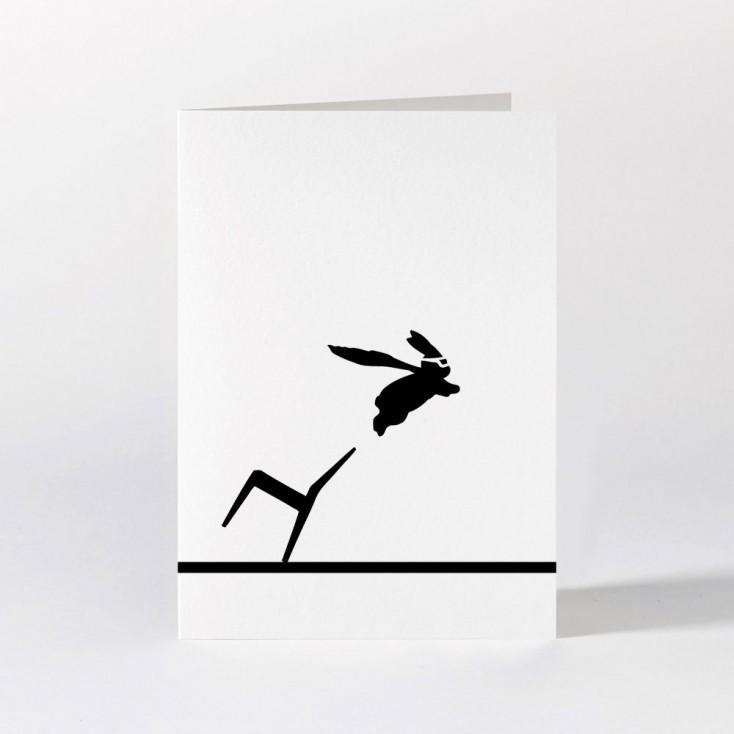 Ham Greeting Card - Superhero Rabbit