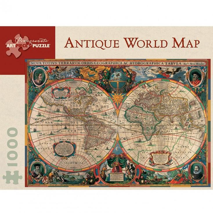 Pomegranate Antique World Map 1000 Piece Jigsaw Puzzle | HUS & HEM