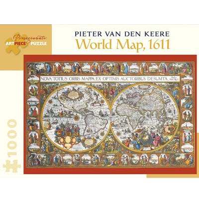 Pomegranate Pieter Van Den Keere World Map 1000 Jigsaw Puzzle