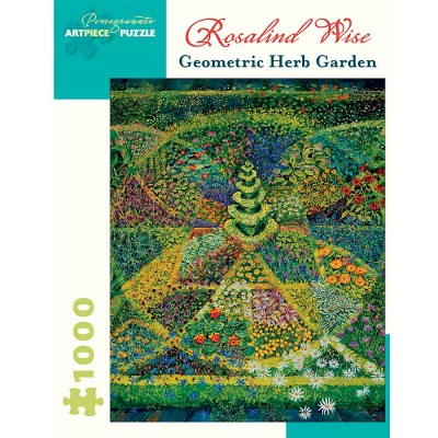 Pomegranate Rosalind Wise Geometric Herb Garden 1000 Piece Jigsaw Puzzle