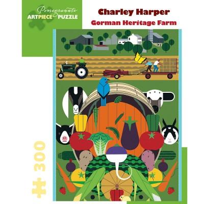 Pomegranate Charley Harper Heritage Farm 300 Piece Jigsaw